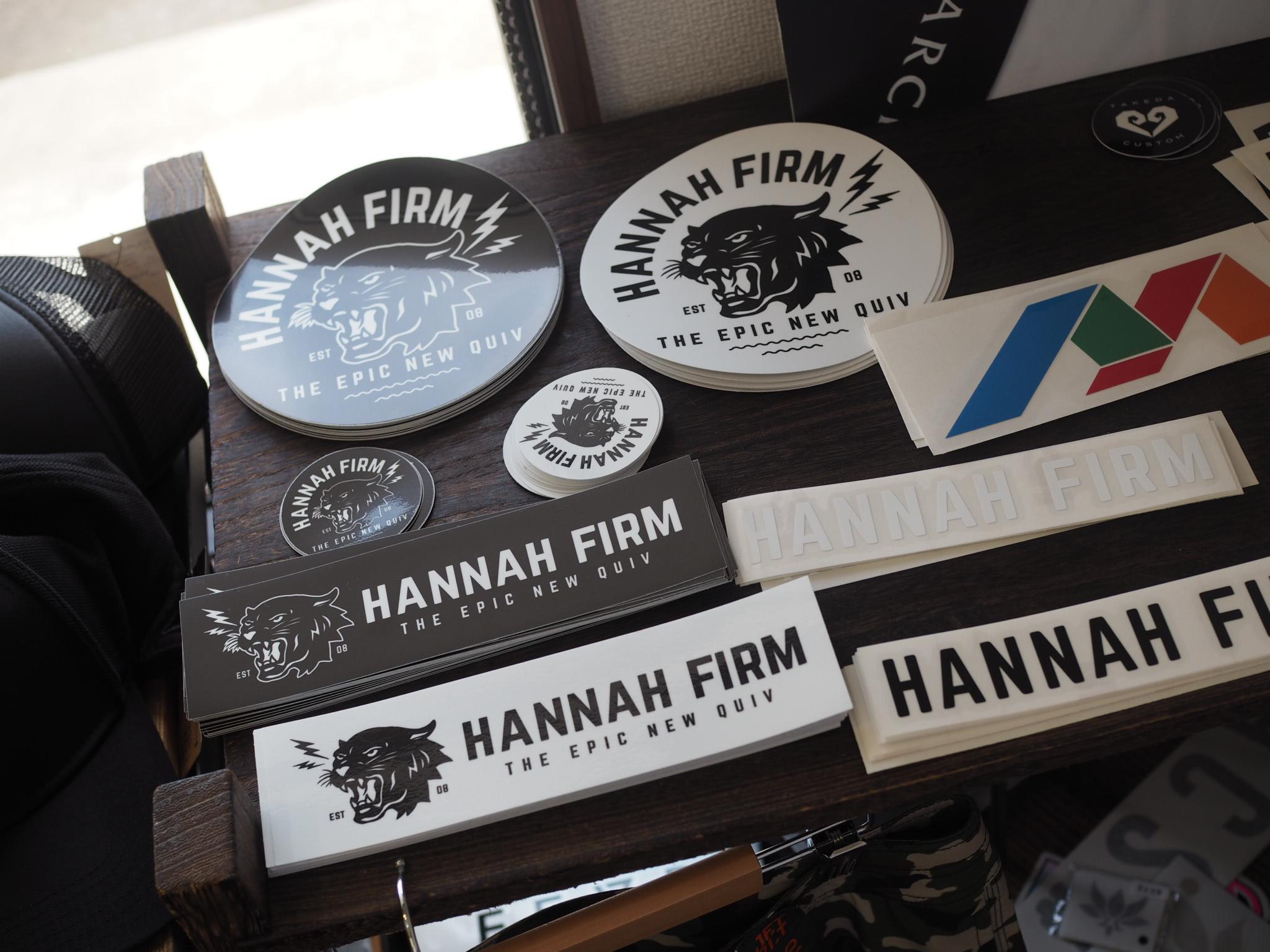 HANNAH FIRM ブラックレオパードステッカー